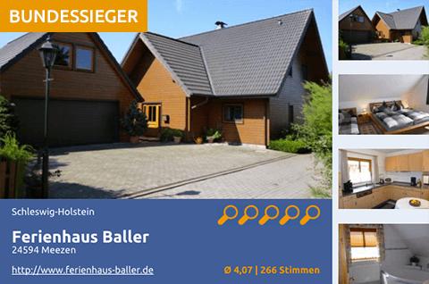 Der Bundessieger 2015 - Ferienhaus Baller in 24594 Meezen